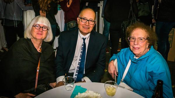 Mary, Tom and Fran at the NEMPAC Autumn Jazz Soirée on the Prado