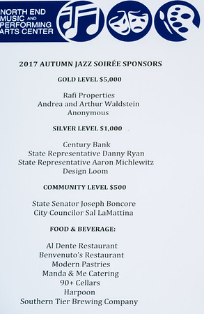Sponsors for the 2017 Autumn Jazz Soirée