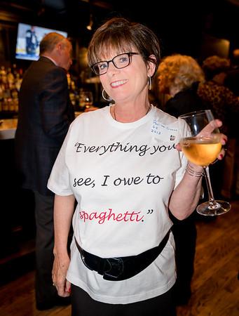 Pauline with her Prince Spaghetti shirt