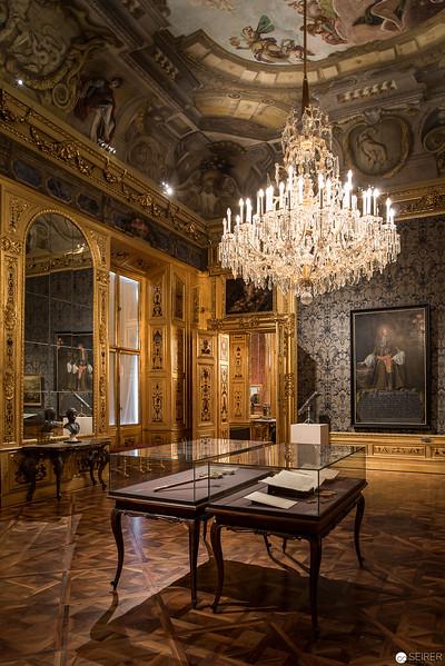 Der Blaue Salon im Winterpalais Prinz Eugen