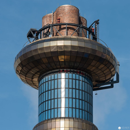 Ausblick von der Terrasse im 14. Stock des Fernwärme Kraftwerkes Spittelau