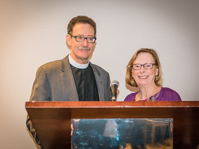 Senior warden Jane Olszewski and Steve Ayres