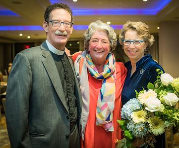 Carol Ball (center) with Steve and Lisa Ayres