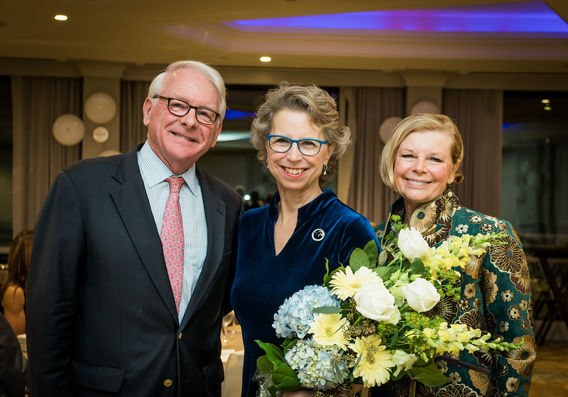 Lisa Ayres (center) with Woodie Haskins and his wife Andrea Mattisen-Haskins