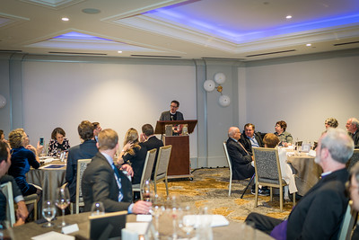 Stephen T. Ayres, guest of honor, speaks at his 20th Anniversary Celebration