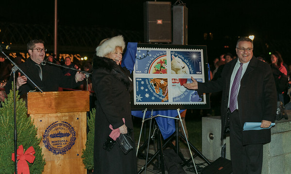 Unveiling this year's holiday stamps from the US Post Office