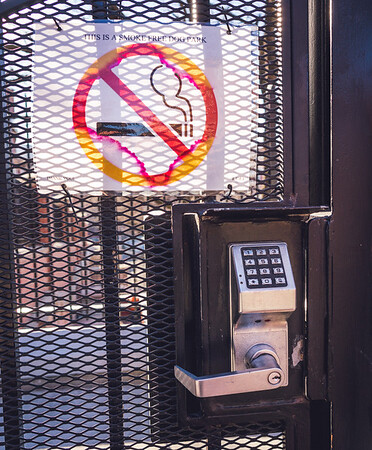 The dog park will be locked at night and is a non-smoking area