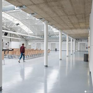 Expedithalle der Anker Brotfabrik nach der Renovierung