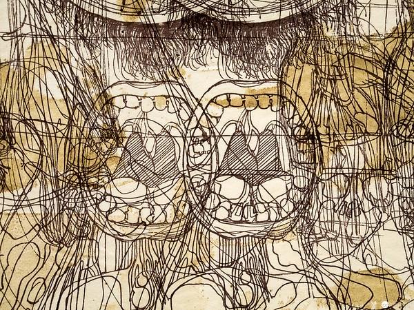 """Hermann Nitsch (Ausschnitt) - Albertina """"LOOK! New Acquisitions"""" Ausstellung"""