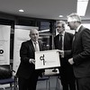 Representatives from the Delegation of the European Union to the United Nations in Geneva, picking up the Geneva Engage Awards for the Permanent Missions category