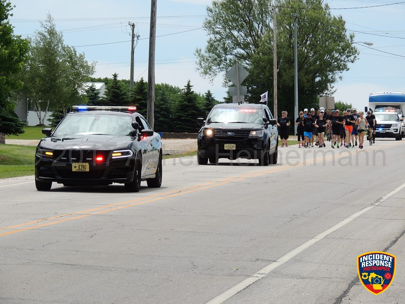 The annual Sheboygan County Law Enforcement Torch Run was held on Thursday, June 8, 2017. Photo by Asher Heimermann/Incident Response.