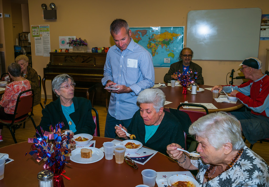 City Council candidate Stephen Passacantilli at the ABCD Center Labor Day lunch