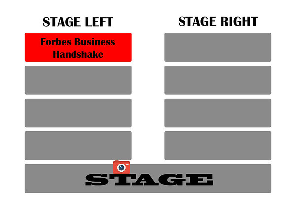 Forbes handshake stage left
