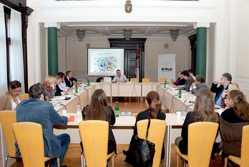 Jimmy Leach delivers Digital Diplomacy workshop at Serbian MFA