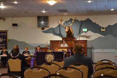 Elks presentation color guard - Nov 9