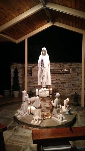 The Fatima Shrine, the destination for Friday evening procession.