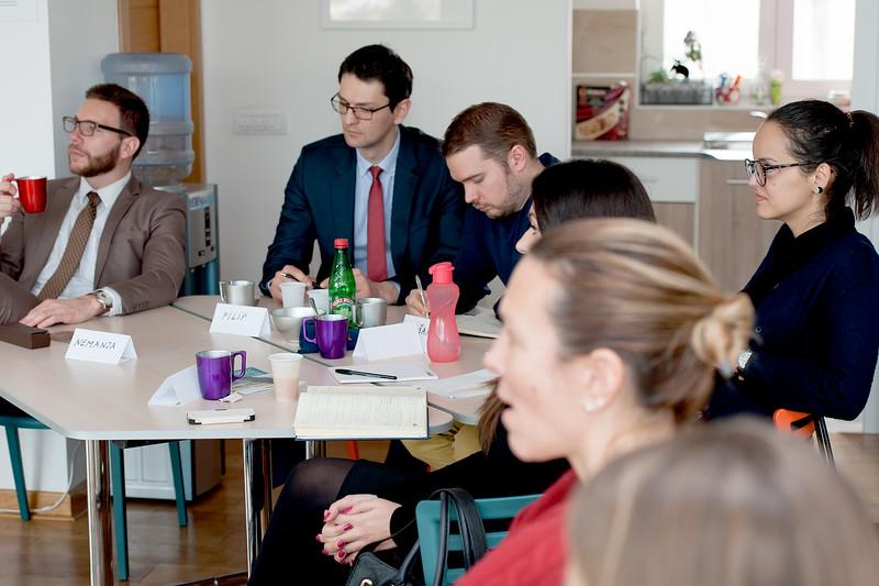 Serbian MFA junior diplomats attending Language and Diplomacy workshop