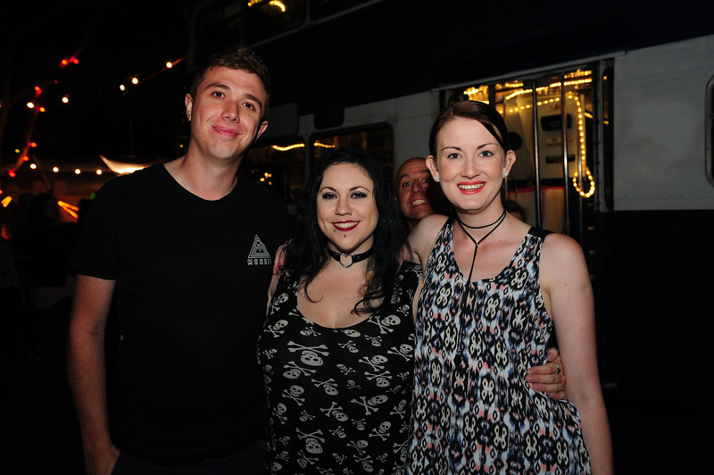 Alyssa, Maggie and Michael at the Garden of Unearthly Delights