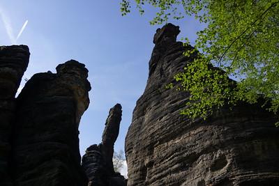 Climbing in Bielatal