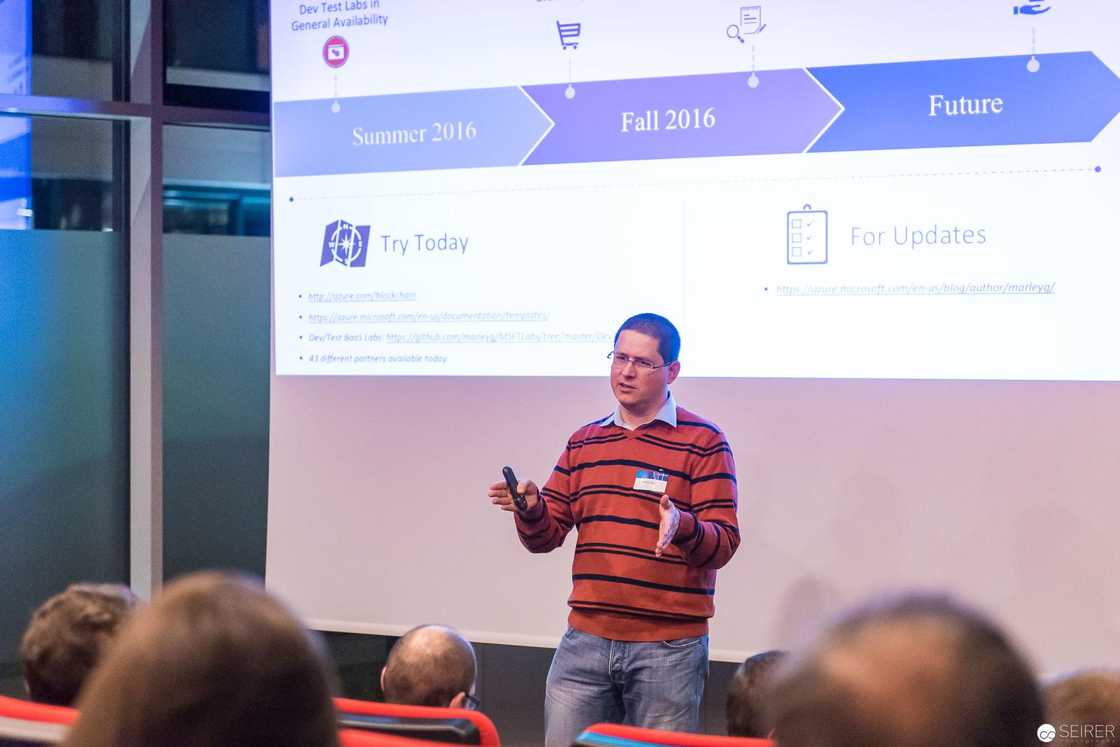 Christoph Wille beim Azure, PowerShell und System Center User Group Event bei Microsoft Österreich