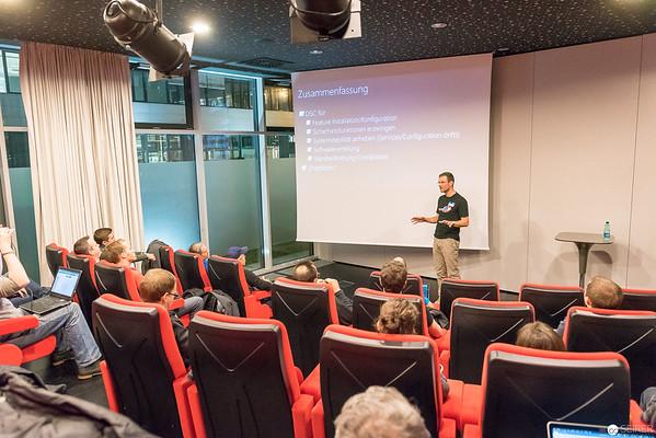 Roman Stadlmair beim Azure, PowerShell und System Center User Group Event bei Microsoft Österreich