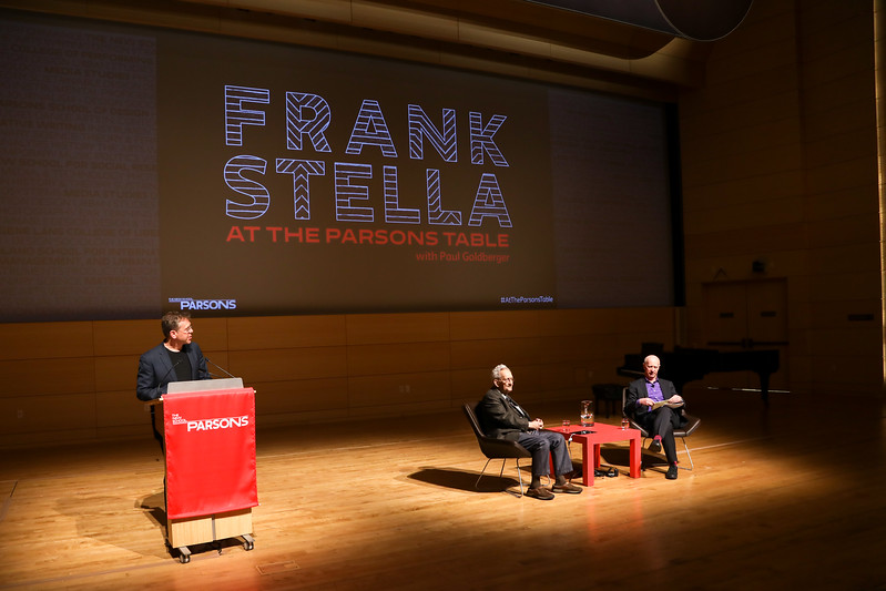 Frank Stella At The Parsons Table with Paul Goldberger<br /> Held The New School<br /> NYC, USA - 2017.04.13<br /> Credit: J Grassi