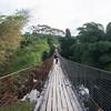 Bridge crossing to homestay at Long Pa' Sia'.