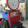 The old-tech scale at Lawas airport.