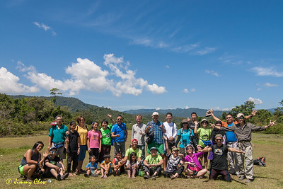 Group photo at Long Semadoh decommissioned airstrip.