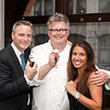 ?, David Burke, Caitlin Hausser<br /> The Zweben Team at Douglas Elliman hosts a launch party at 73 Bleecker with AVENUE Magazine and Tourneau<br /> New York, NY - 2017.08.01<br /> Credit: J Grassi