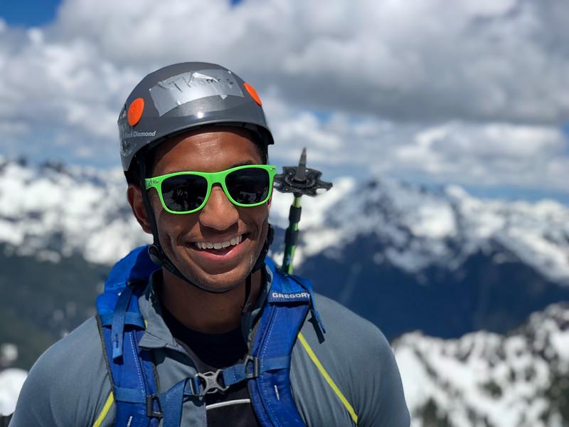 Thomas at the summit of Mt. Ellinor.