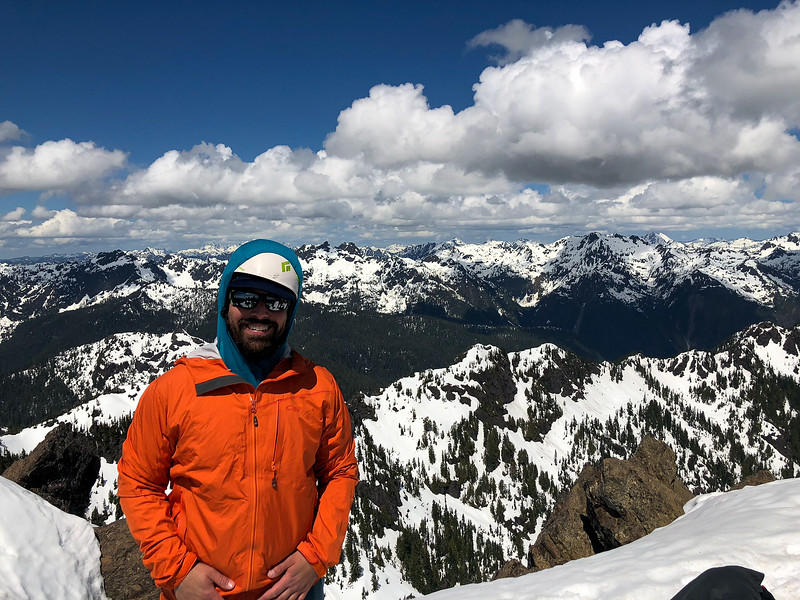 At the summit of Mt. Ellinor