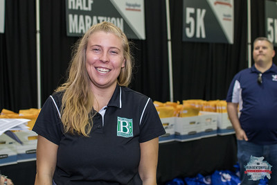 The 2018 Bentonville Half Marathon festivities kicked of with the Running Expo at Tiger Stadium, hosting packet pick-up and various sponsors and vendors.