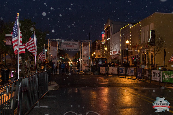 This years Bentonville Half Marathon set records with the snow, 20 degree temps, and bitter, strong winds.