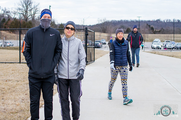 Braving the frigid January temps, runners and mountain bikers came out to Mount Kessler for Fayetteville's Frozen Toes 15k.