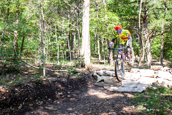 The fourth installment in the NWA Enduro Series started off at Eureka Springs at the Lake Leatherwood trails.  Slick and muddy trails from rain days prior to the downhill event didn't stop bikers from giving it their all as they ripped through the lines.