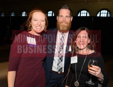 From left, 2018 40 Under 40 winner Liz Deziel of U.S. Bank, Tom Stukel and Ruth Ann Defrang