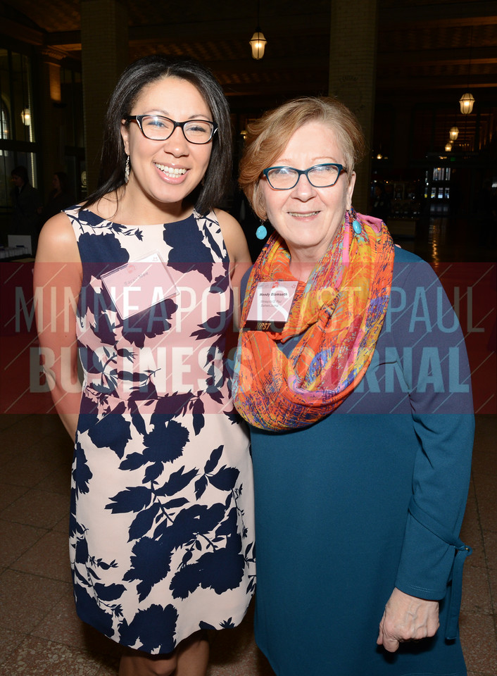 Sarah Moe (left) and Wendy Blomseth of the Minneapolis/St. Paul Business Journal
