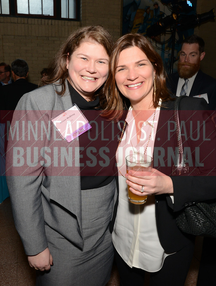 Highschool classmates and 2018 40 Under 40 winners Alison McElroy of Lift Brands (left) and Anne Behrendt of Doran Companies