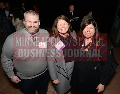 2018 40 Under 40 winner Alison McElroy of Lift Brands (center) celebrated with her brother Mike McElroy and sister Laura McElroy-DePoint.