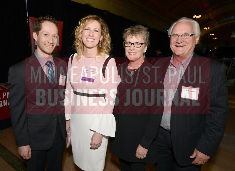 From left, Justin Torrones, 2018 40 Under 40 Winner Claire Torrones, Kris Driessen and Chuck Driessen