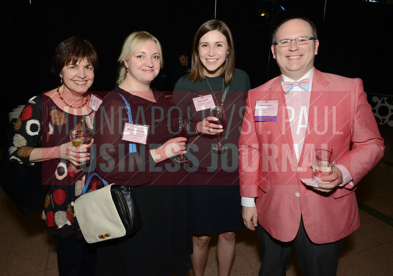 From left, Chris Elias, Shannon Gahagen, Mariah Brook and 2018 40 Under 40 winner Jeremy Wells of the St. Paul and Minnesota Community Foundations