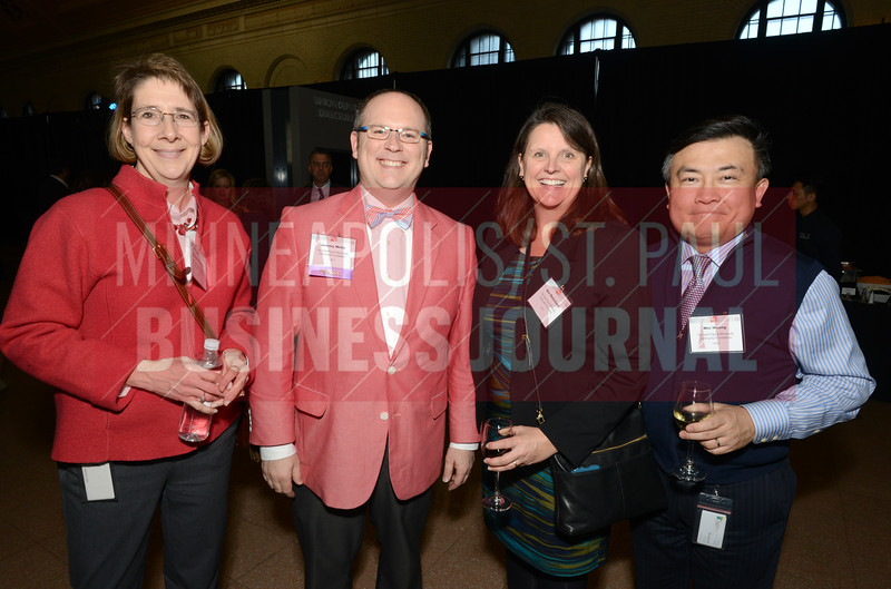 From left, Christine Searson, 2018 40 Under 40 winner Jeremy Wells, Ann Mulholland and Wei Huang
