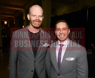 Eric Henderson (left) left and 2018 40 Under 40 winner Mike Augustyniak