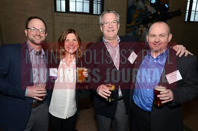 From left, (Josh Behrendt,) 2018 40 Under 40 winner Anne Behrendt of Doran Companies, Kelly Doran and Don Brown