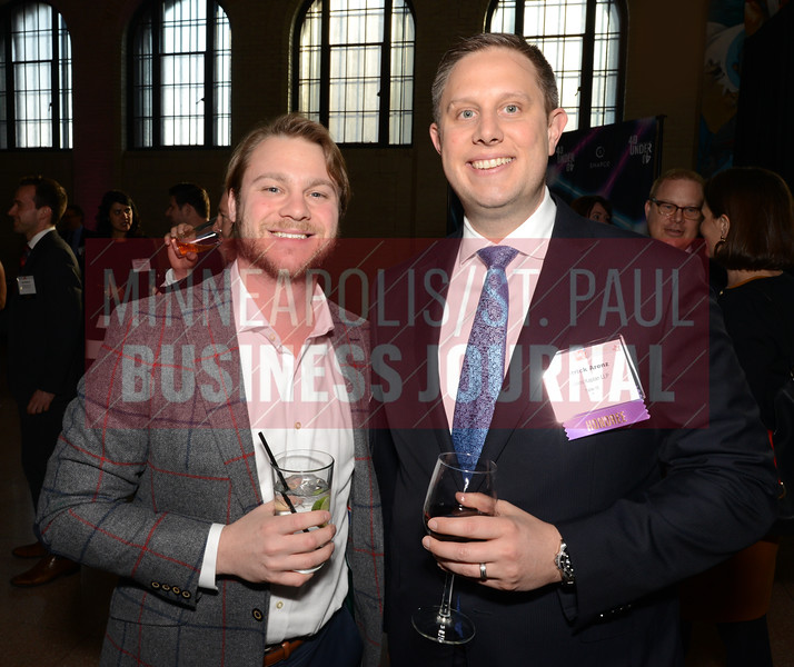 Will Manski (left) and 2018 40 under 40 winner Patrick Arenz of Robins Kaplan LLP