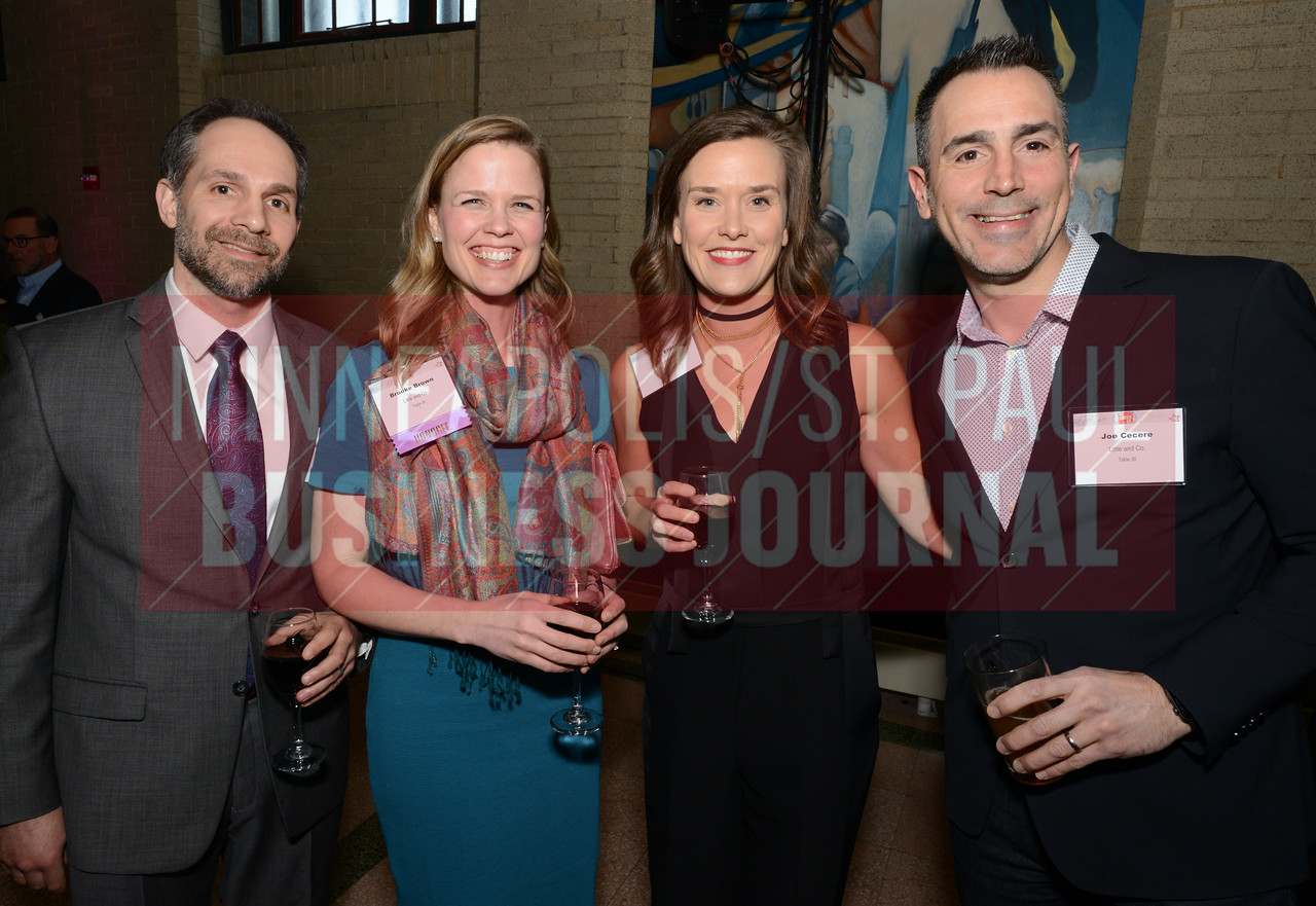 From left, Michael Brown, 2018 40 Under 40 winner Brooke Brown of Little and Co., Traci Elder and Joe Cecere