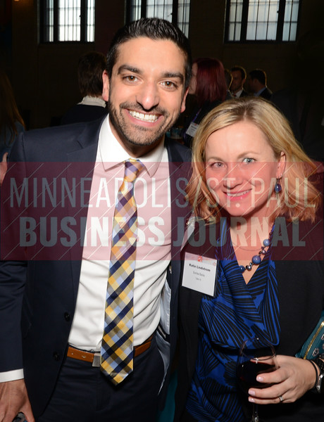 2018 40 Under 40 winner Adam Rao of Sunrise Banks and Katie Lindstrom