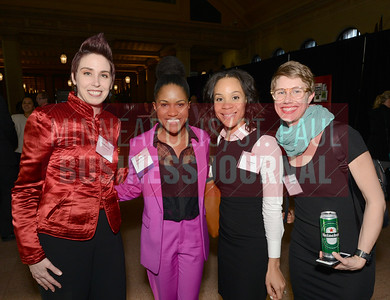 From left, Find Your Power founder Ivy Kaminsky, 2018 40 Under 40 Winner Joane McAfee of the Office of Governor Mark Dayton, Kolu Wilson and Janelle Shoemake