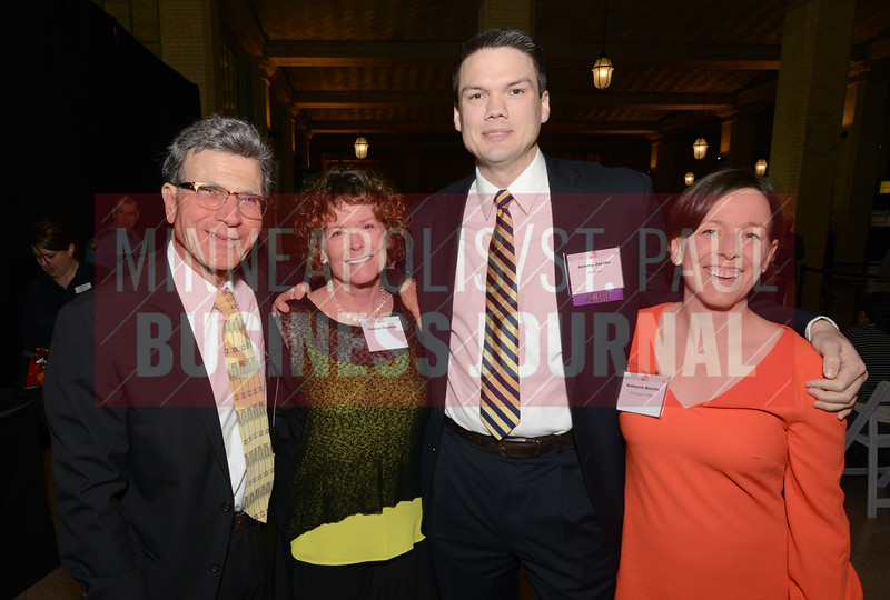 From left, Michael Hartoonian, Patricia Thornton, 2018 40 Under 40 winner Jeremy Jacobs and his wife Katharine Buzicky